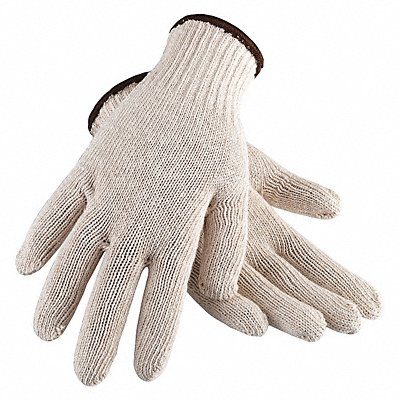 Knit Gloves Cotton Material Knit Wrist Cuff Natural Glove Size S