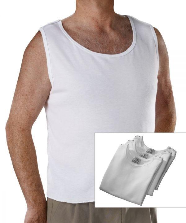 Mens 3 Pack - Adaptive Cotton Sleeveless Undershirt