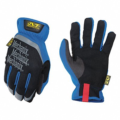 Leather Mechanics Gloves Synthetic Leather Palm Material Blue L PR 1