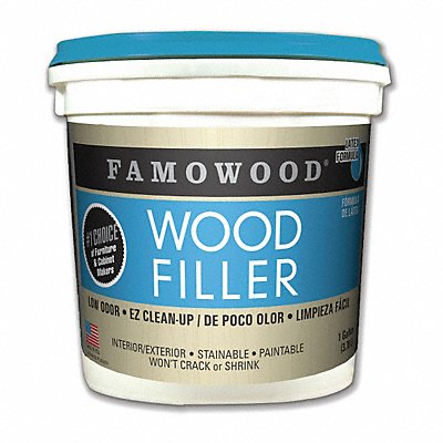 Wood Filler 1 gal Size Walnut Color Container Type Pail