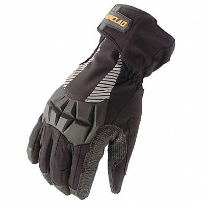Cold Protection Gloves Insulated Lining Shirred Cuff Black/Black L PR 1