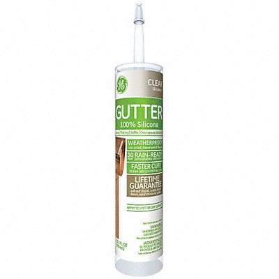 Clear Gutter and Flashing Sealant Silicone 10.1 oz Cartridge