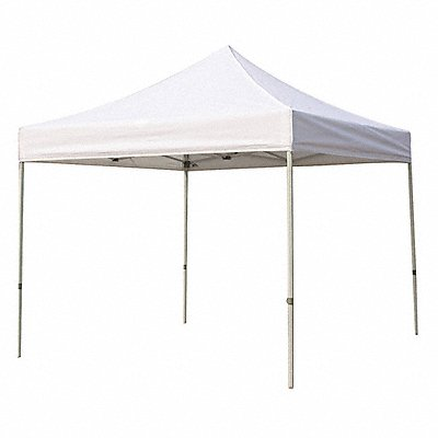 White Instant Canopy 10 ft Length 10 ft Width 7 ft to 8 ft Center Height