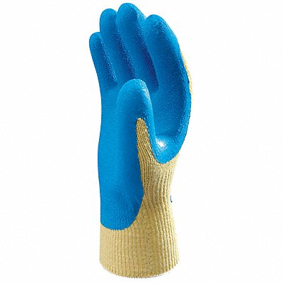 Natural Rubber Latex Cut Resistant Gloves ANSI/ISEA Cut Level 3 Kevlar? Lining Blue Yellow L P