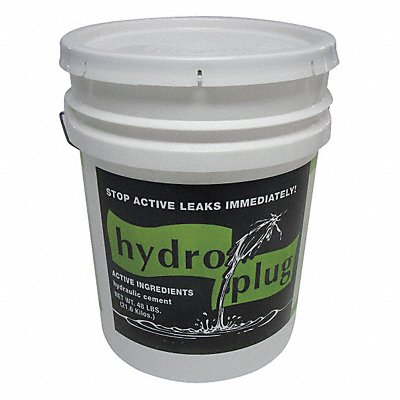 Gray Concrete Foundation Repair Leak Stop Anchoring 50 lb Pail Coverage 12.5 sq. ft @ 3/4