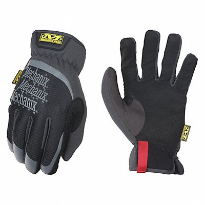 Leather Mechanics Gloves Synthetic Leather Palm Material Black M PR 1