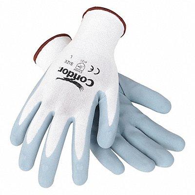 13 Gauge Foam Nitrile Coated Gloves Glove Size XL White/Gray
