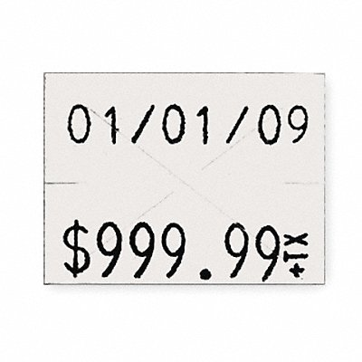 White Pricing Label Kit Number of Lines 2