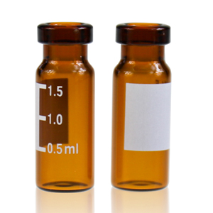 2ML Amber Glass Crimp Vial, 11mm, Flat
