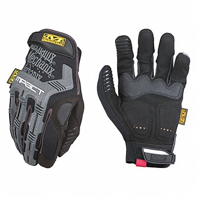 Impact Resistant Gloves Synthetic Leather D30? Armortex? Palm Material Black/Gray 1 PR