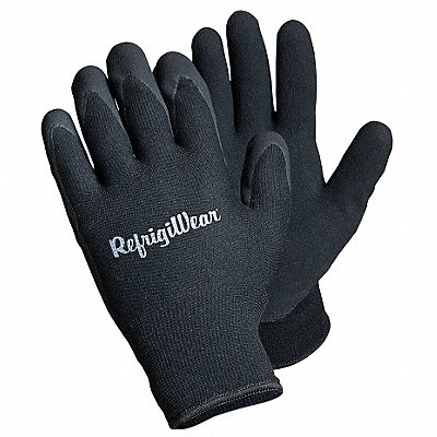 Cold Protection Gloves Terry Cloth Lining Slip-On Cuff Black L PR 1