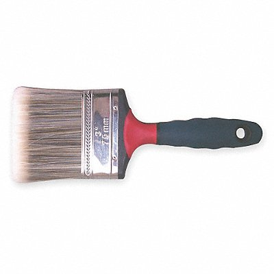 3 Flat Sash Synthetic Bristle Paint Brush Firm for All Paint  Coatings 1 EA