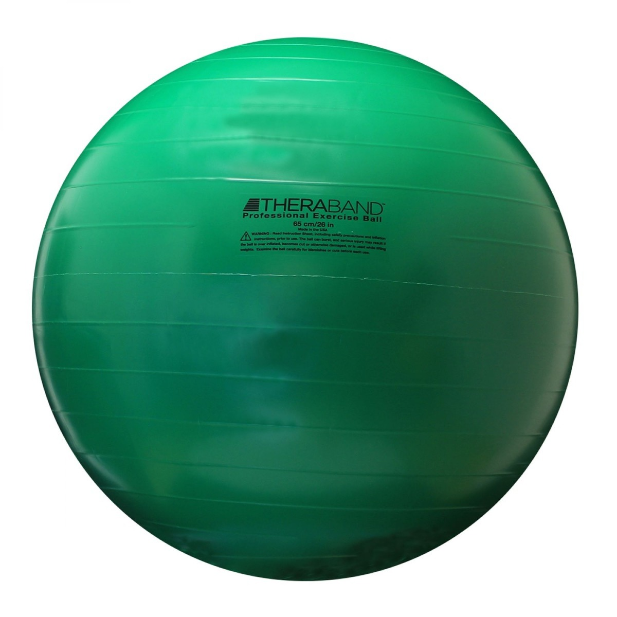 TheraBand Standard Exercise Ball, 65 cm, Green, Retail Pack