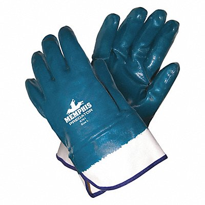Smooth Nitrile Coated Gloves Glove Size L Blue