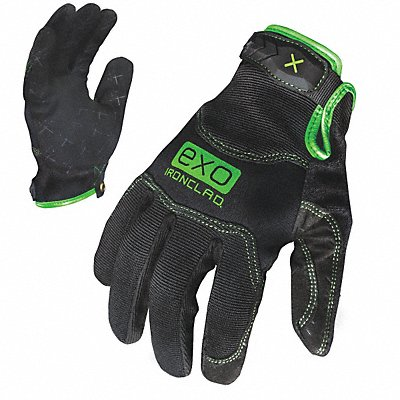 General Utility Pro Gloves Embossed Synthetic Leather Palm Material Black 2XL PR 1