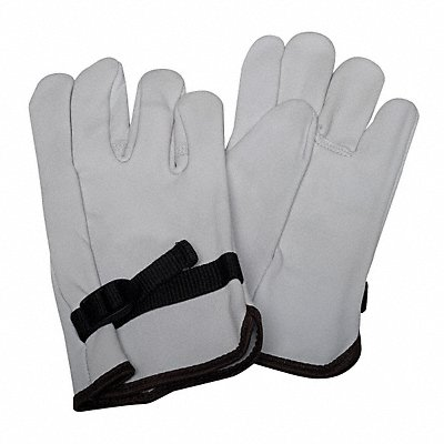 Electrical Glove Protector White Top Grain Goatskin 10 Length
