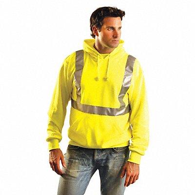 Yellow Polyester Sweatshirt Size L ANSI Class 2