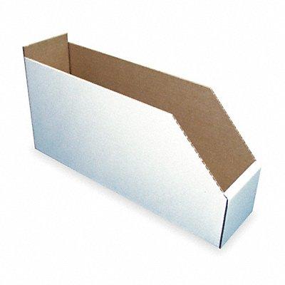 Corrugated Shelf Bin 200 lb Test Rating White 8-1/2 H x 17 L x 8-1/4 W 1EA  |  Box of 15
