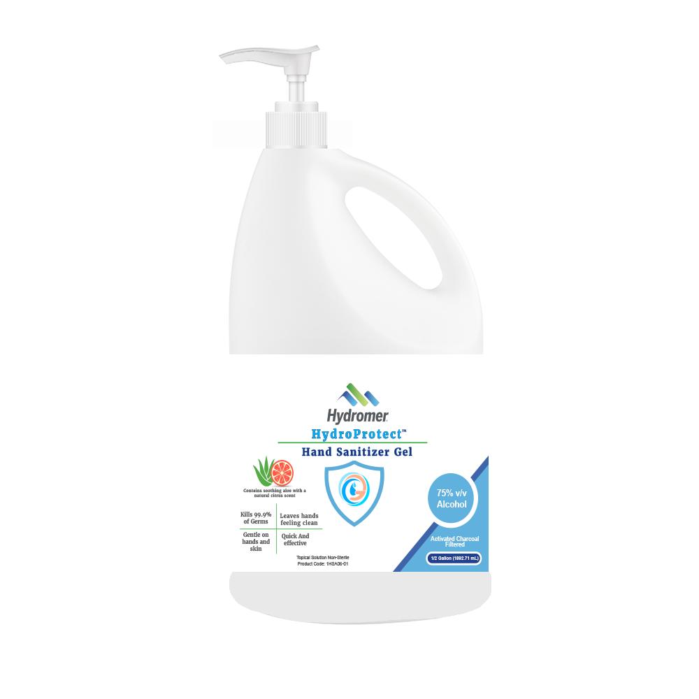 Hand Sanitizer GEL 64 FL. OZ. Bottle With Pump-1 Case Of 4 Bottles Grapefruit Scented