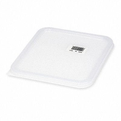8-3/4 x 8-3/8 Polyethylene Space Saving Container Lid White