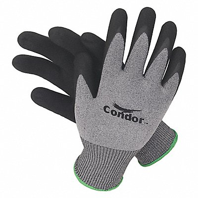 15 Gauge Foam Nitrile Coated Gloves Glove Size S Gray/Black