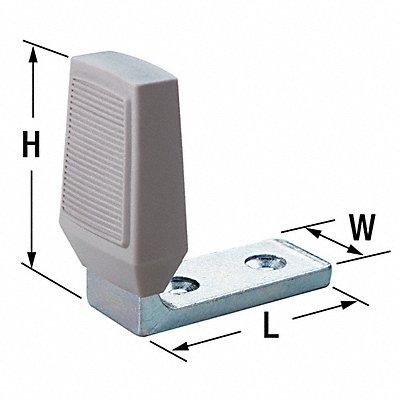 Angle Door Stop Floor Mount Zinc-Plated