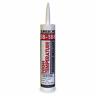 Black Sealant Silicone 10.3 oz Cartridge