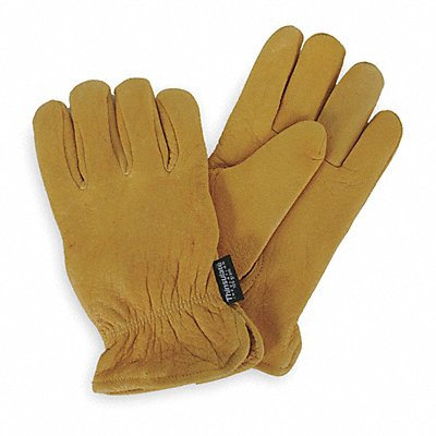 Cold Protection Gloves Thinsulate Lining Slip-On Cuff Golden Yellow L PR 1