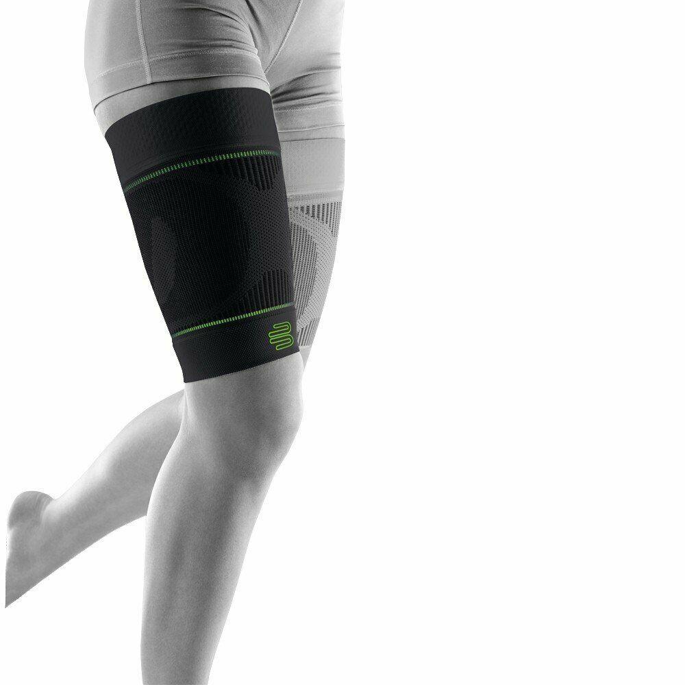 Bauerfeind Sports Compression Upper Leg Sleeves -Thigh & Hamstring 1 Pair- Black