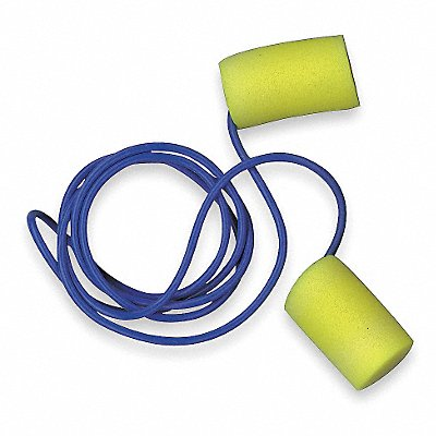 29dB Disposable Cylinder-Shape Earplugs Corded Yellow Universal