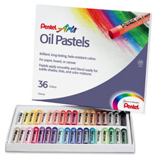 Pentel Oil Pastels, Assorted, Pack of 12