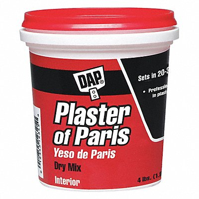 Plaster of Paris 4 lb Size White Color Container Type Pail
