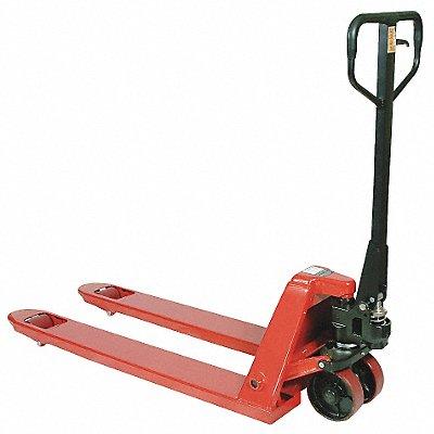 Narrow General Purpose Manual Pallet Jack 5500 lb Load Capacity Fork Size 6-5/16 W x 48 L Red