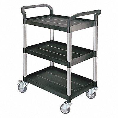 Polypropylene Fiber Glass Raised Handle Utility Cart 300 lb Load Capacity Number of Shelves 3