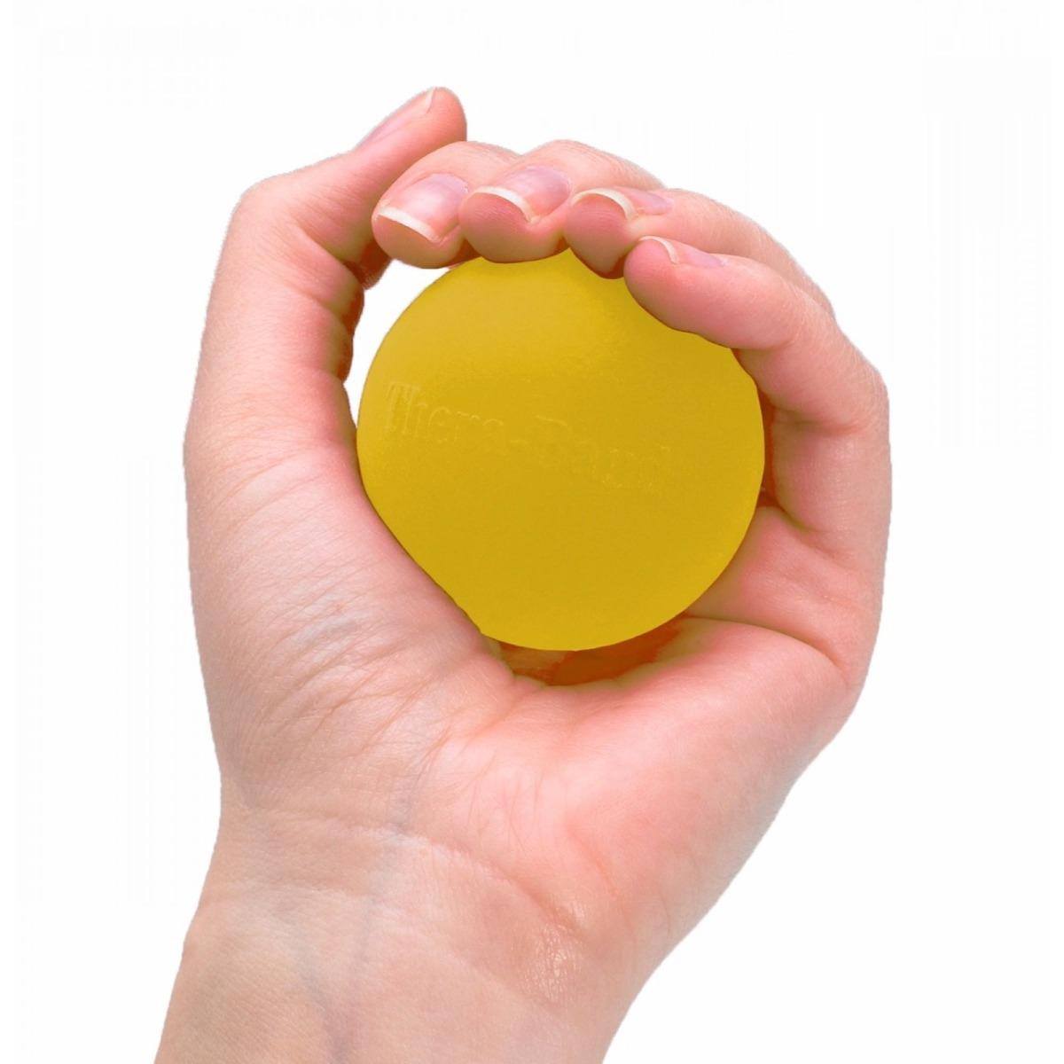 TheraBand Hand Exerciser, Level 1, Yellow, Extra Soft
