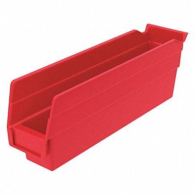Shelf Bin Red 4 H x 11-5/8 L x 2-3/4 W 1EA  |  Box of 24