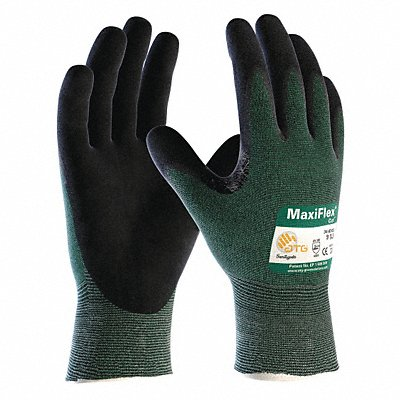 Nitrile Cut Resistant Gloves ANSI/ISEA Cut Level 2 Lining Green 2XL PR 1