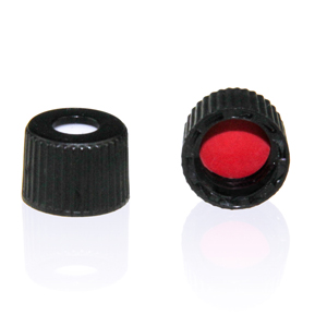 Screw Caps w/open top, 8-425, Black
