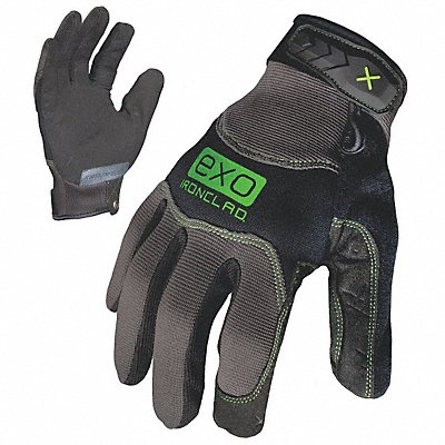 Water Resistant Mechanics Gloves Water Repellant Synthetic Leather Palm Material Black/Gray 2XL