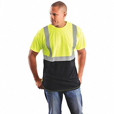 Yellow 100 Wicking Polyester T-Shirt Size XL ANSI Class 2