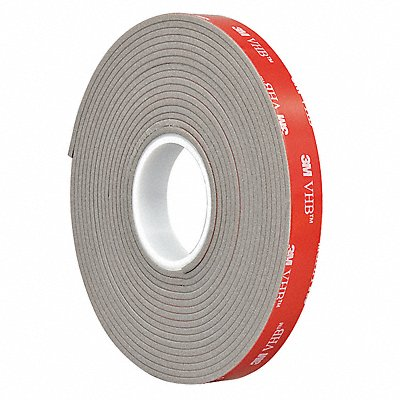 Acrylic Foam Double Sided VHB Foam Tape Acrylic Adhesive 90.00 mil Thick 1/2 X 5 yd. Gray