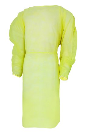 Protective Procedure Gown, Adult, One Size Fits Most, Yellow NonSterile, Gown, Isolation, Non-Surgi
