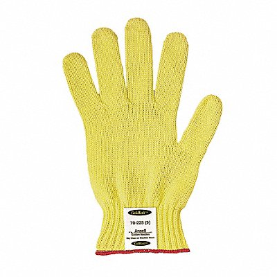 Uncoated Cut Resistant Gloves ANSI/ISEA Cut Level 4 Kevlar? Lining Yellow L PR 1