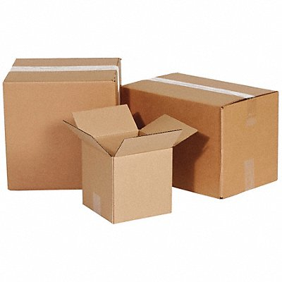 Shipping Carton Kraft Inside Width 8  Inside Length 8  Inside Depth 6  65 lb.  |  Box of 25