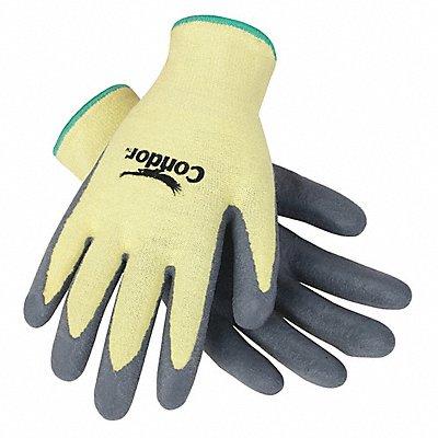 Nitrile Cut Resistant Gloves ANSI/ISEA Cut Level 4 Kevlar? Lining Gray Yellow M PR 1