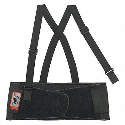Knit Elastic Back Support 7-1/2 Width 2XL Black