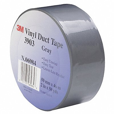 Light-Duty Duct Tape 2 X 50 yd. 6.30 mil Thick Gray Vinyl 1 EA