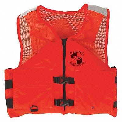 Standard Life Jacket USCG Type III Foam Flotation Material Size XL