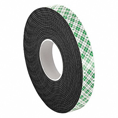 Urethane Foam Double Sided Foam Tape Acrylic Adhesive 1/16 Thick 1/2 X 5 yd. Black