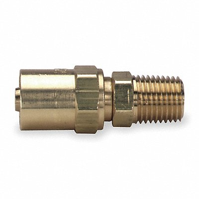 Brass Reusable Hose End For Hose I.D. 1/4